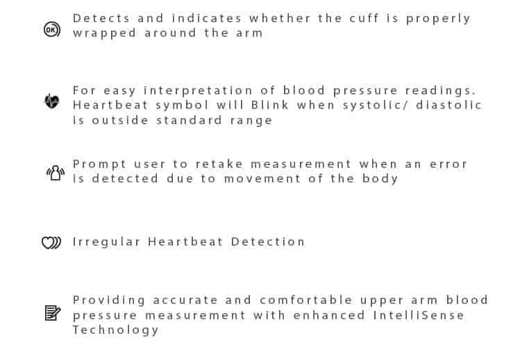 Omrom blood pressure monitor HEM 7121 descriptions
