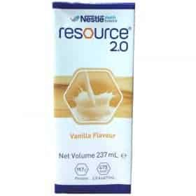 Nestle Resource 2.0 Milk Liquid 237ml Carton of 24 - Vanilla Image
