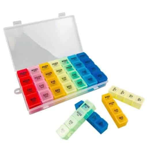 Detachable Rainbow 7 Days Weekly Pill Organizer
