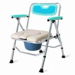 Adjustable Height Aluminium Alloy Commode Chair