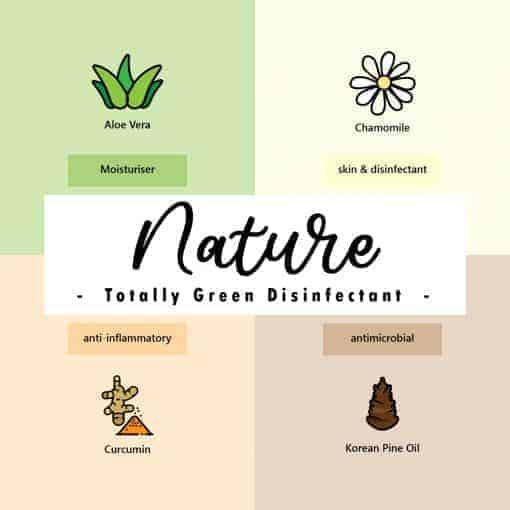 EcoLiving Alcohol Free Sanitizer Nature Natural Ingredients Suitable for Children Elderly Senior Adult