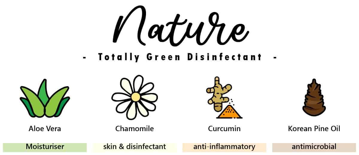 EcoLiving Alcohol Free Sanitizer Nature Natural Ingredients