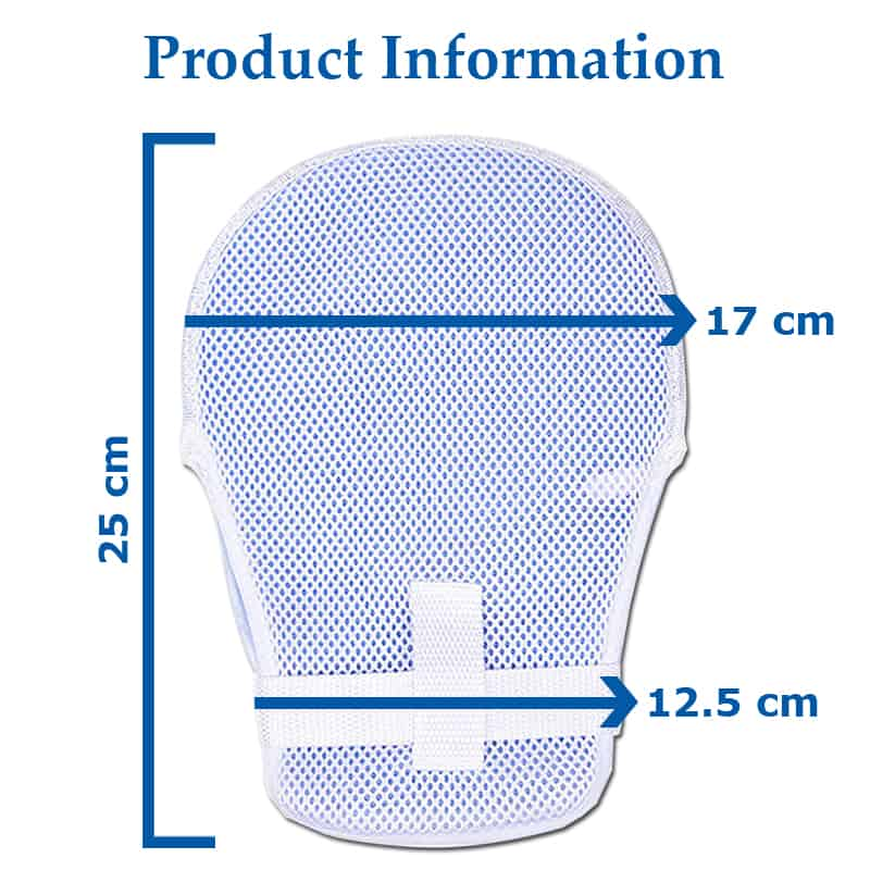Adult Elderly Finger Protection Mitts Hand Gloves - Measurement