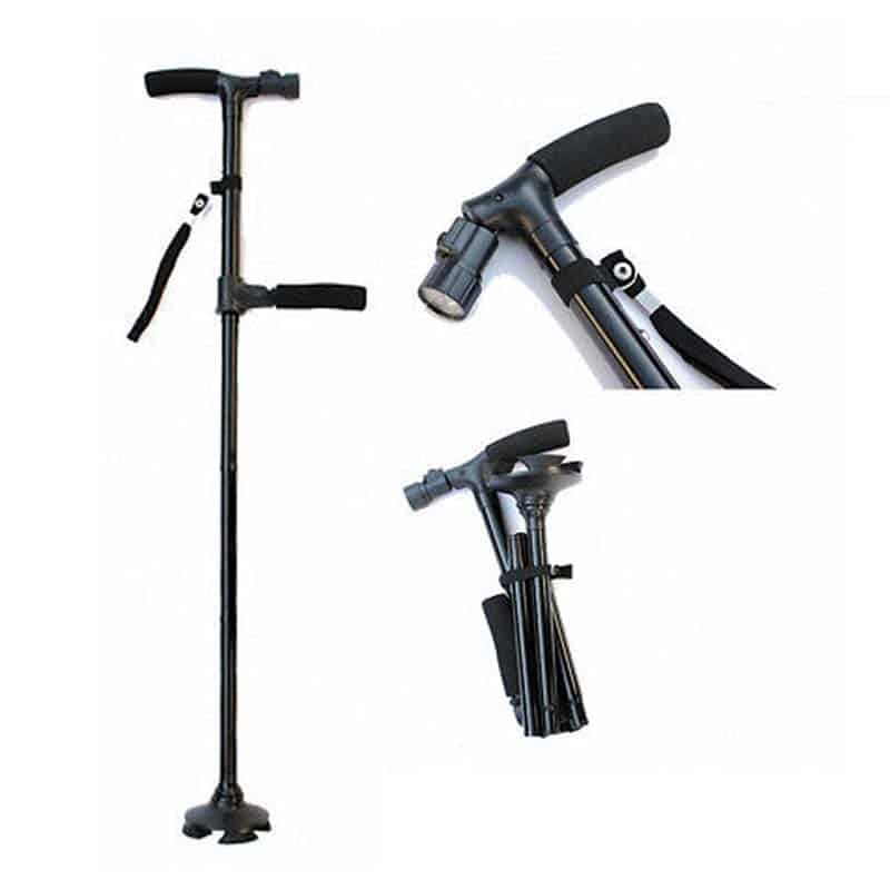 FOLDABLE HIGH RISE WALKING STICK with BUILD IN LED - Features