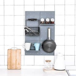 Tool-Free Multipurpose Wall Organizer Shelf