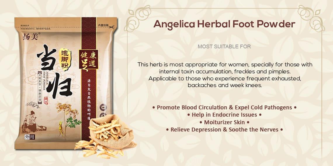 Chinese Herbal Detox FootBath Footspa Powder Sachet - Angelica