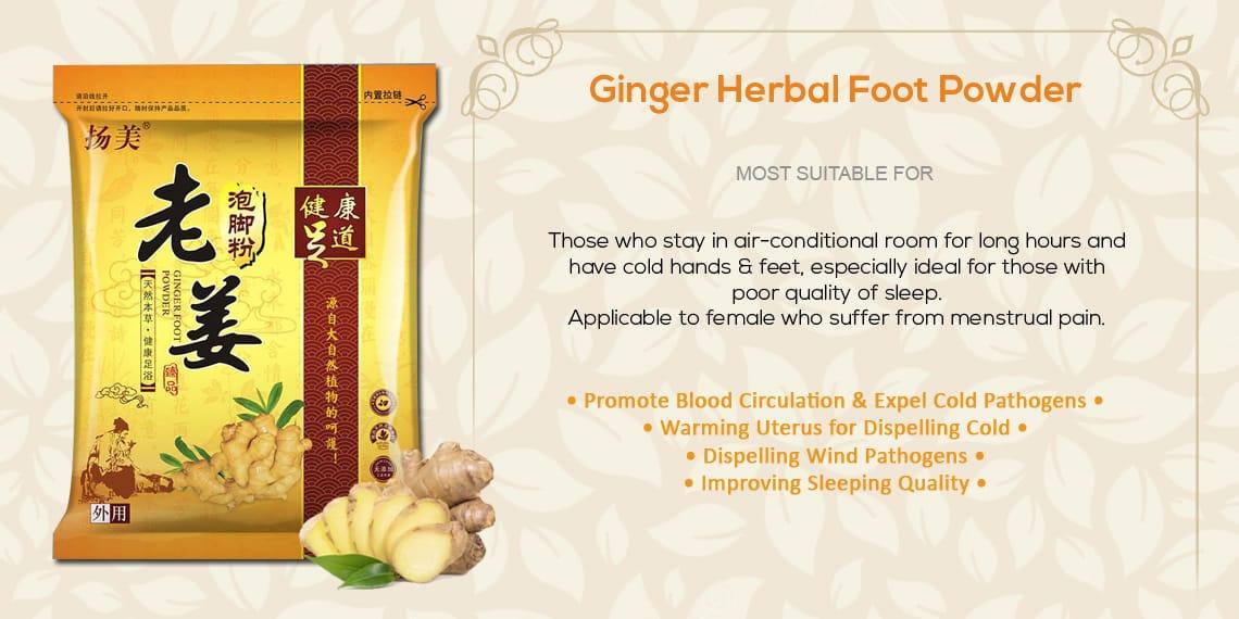 Chinese Herbal Detox FootBath Footspa Powder Sachet - Ginger