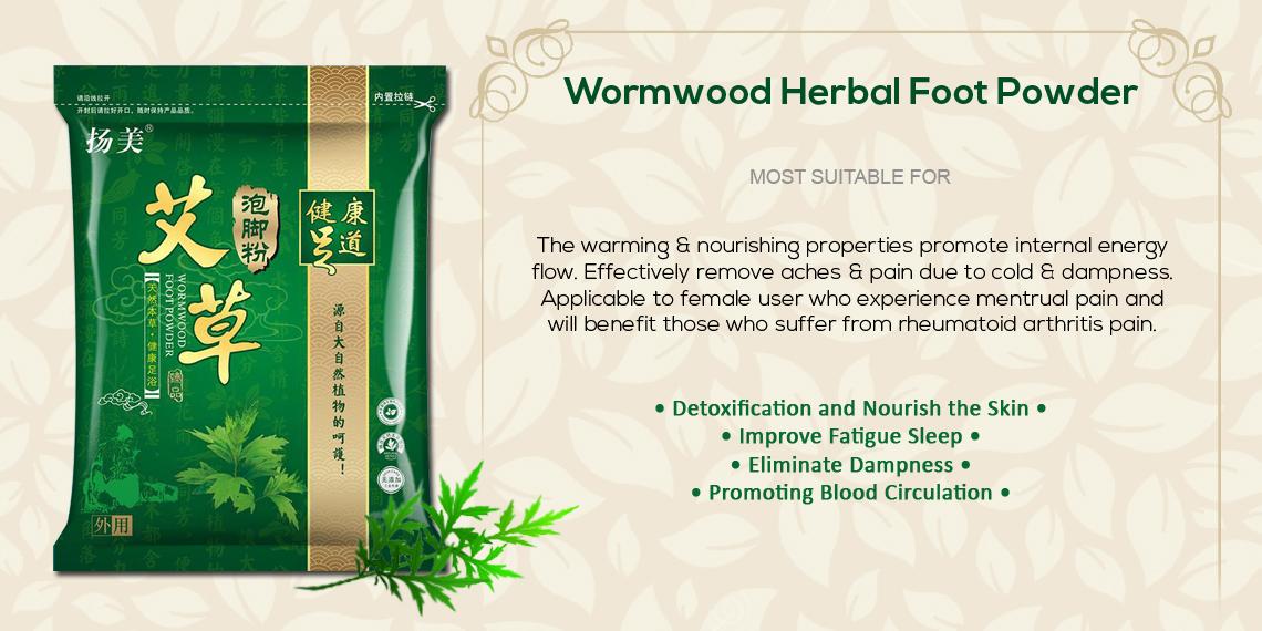 Chinese Herbal Detox FootBath Footspa Powder Sachet - Mugwort