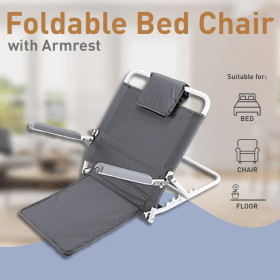 Foldable Backrest Seat with Handles -For Bed, Chair, Floor Image