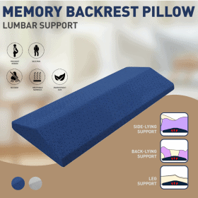 Washable Memory Foam Back Support Bed Cushion Image
