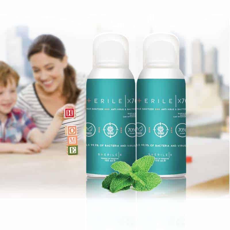 Antiseptic Disinfectant - Sterile-X X70 Anti Virus & Bacteria Surface Sanitizer 70% alcohol