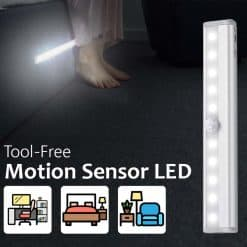 Motion Sensor LED Bedroom Safety Light in Dark Tool Free Magnet
