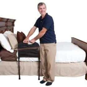 ADJUSTABLE HEIGHT STABLE BED RAIL with SIDE POCKET Image