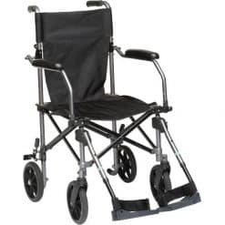 Travelite Lightweight Portable Foldable Transport Wheelchair